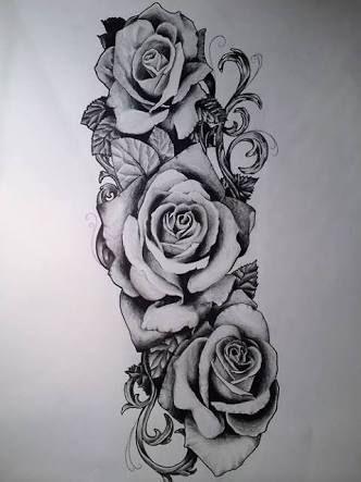 Image Result For Rose Half Sleeve Tattoos Tumblr Rose Tattoos For Men Rose Tattoo Sleeve Rose Tattoos