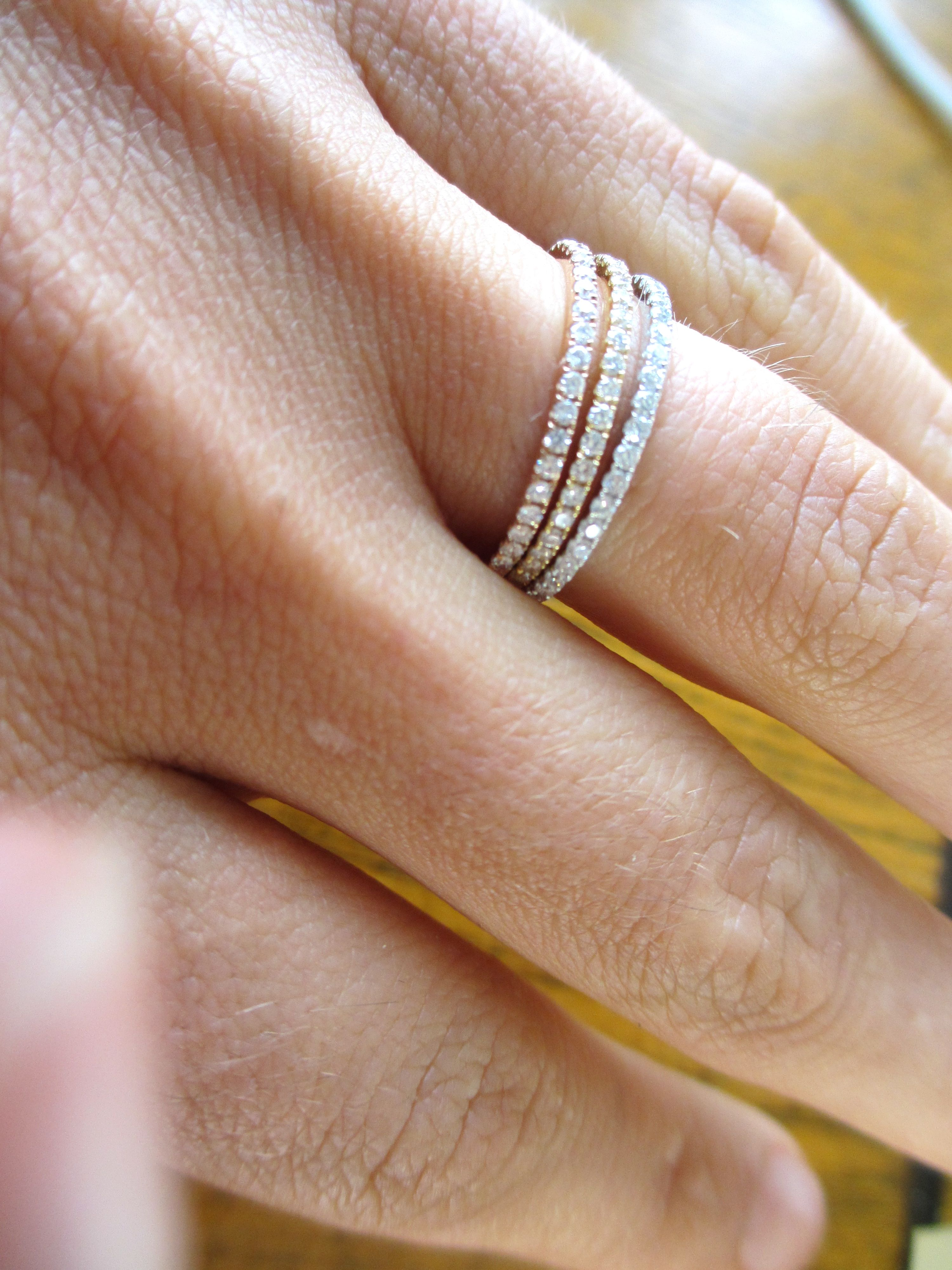 Pin By Nicole Stein On Wedding Bands Eternity Band Diamond Thin Diamond Band Stackable Diamond Rings