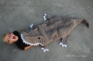 Bulky & Quick T-Rex Blanket pattern by MJ's Off The Hook ...