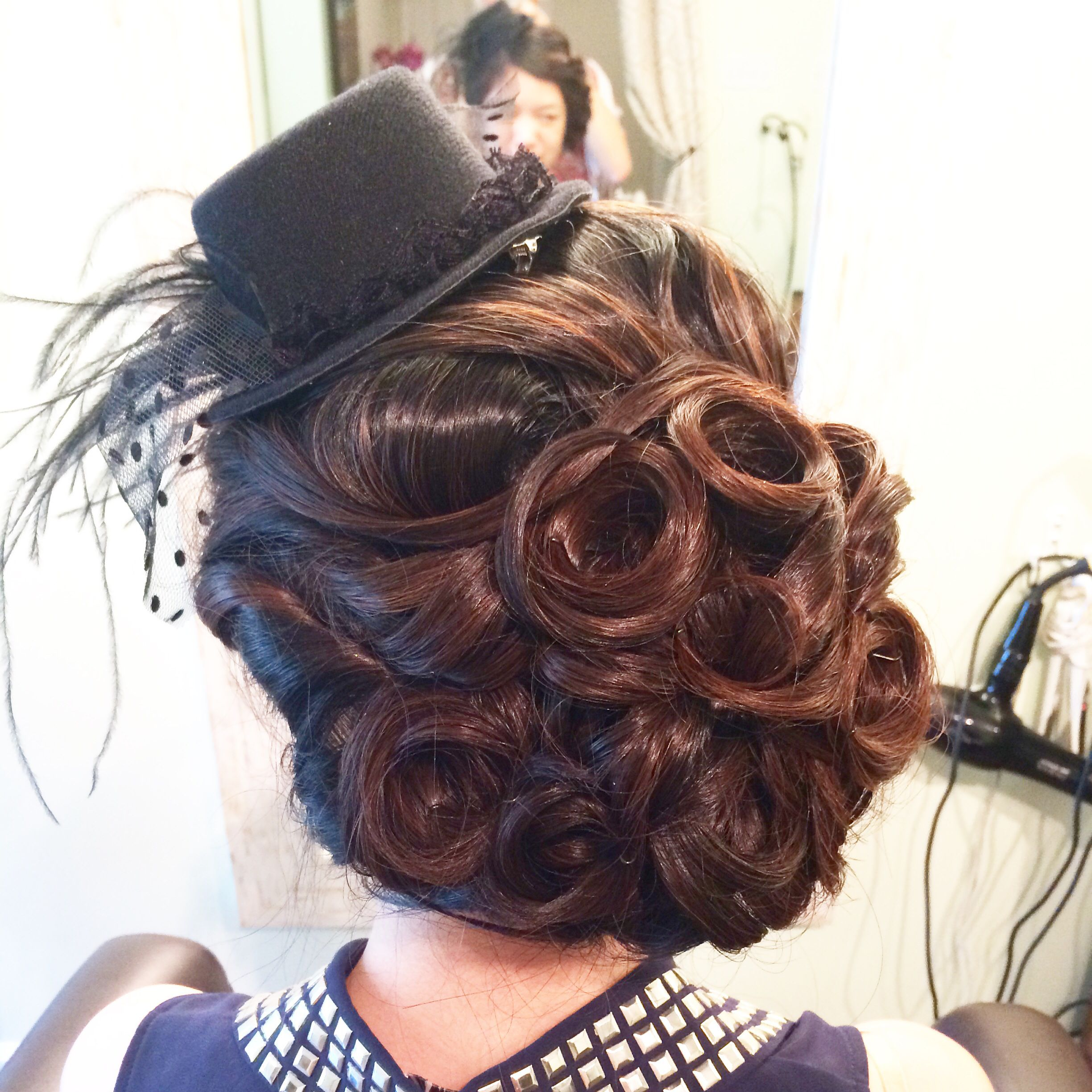Formal updo with pin curls hair pinterest formal updo pin