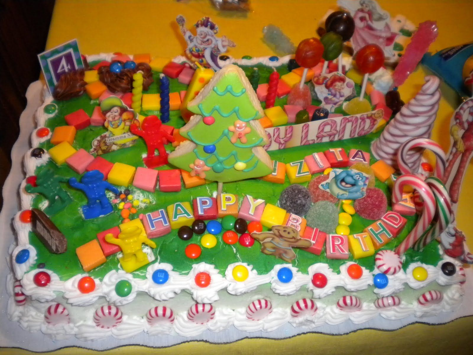 Fantastic Candyland Birthday Cake Candyland Cakes Decoration Ideas With Birthday Cards Printable Opercafe Filternl