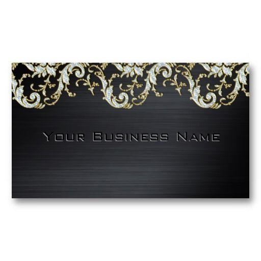 Black Metallic Diamond Damask Elegant Corporate Business Card Zazzle Com Corporate Business Card Business Cards Elegant Cool Business Cards