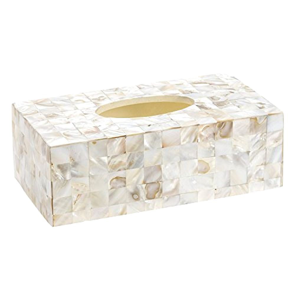 Tissue Box Holder Rectangular Decorative Beautiful Mother Of Pearl Cover Bath Creativescents Tissue Boxes Tissue Box Covers Tissue Box Holder