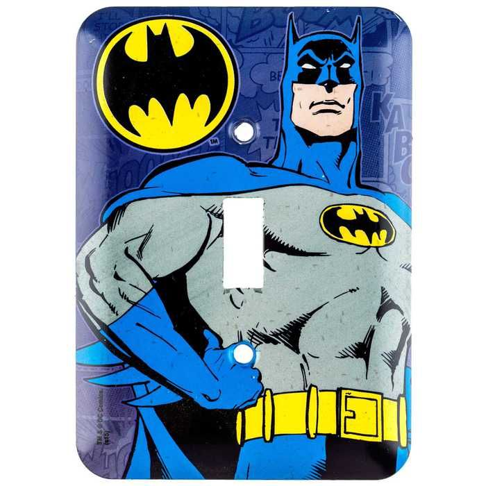 Batman Tin Light Switch Plate ⎜Open Road Brands | Soaring Heights ...