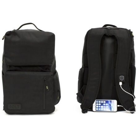 M-Edge - Bolt Backpack with 4000 mAh Battery in Black