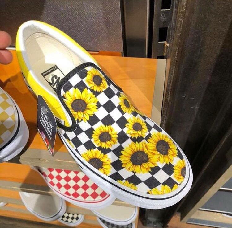 abbeymix1✰ | Sunflower slip on vans