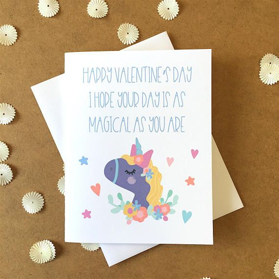 Unicorn Valentineu0027s Day Card, Magical Valentineu0027s Day, Valentines   Valentine  Gift For Friend