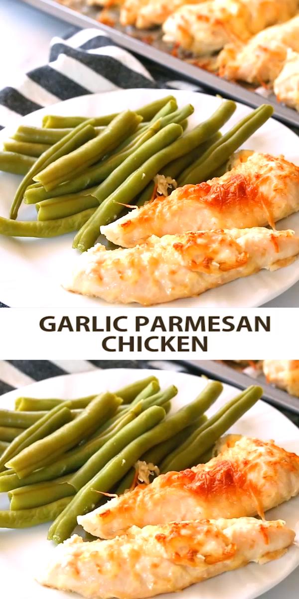 Five Minute Garlic Parmesan Chicken Tenders - -