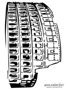 Ancient Rome Colosseum Coloring Page Sketch Template Print