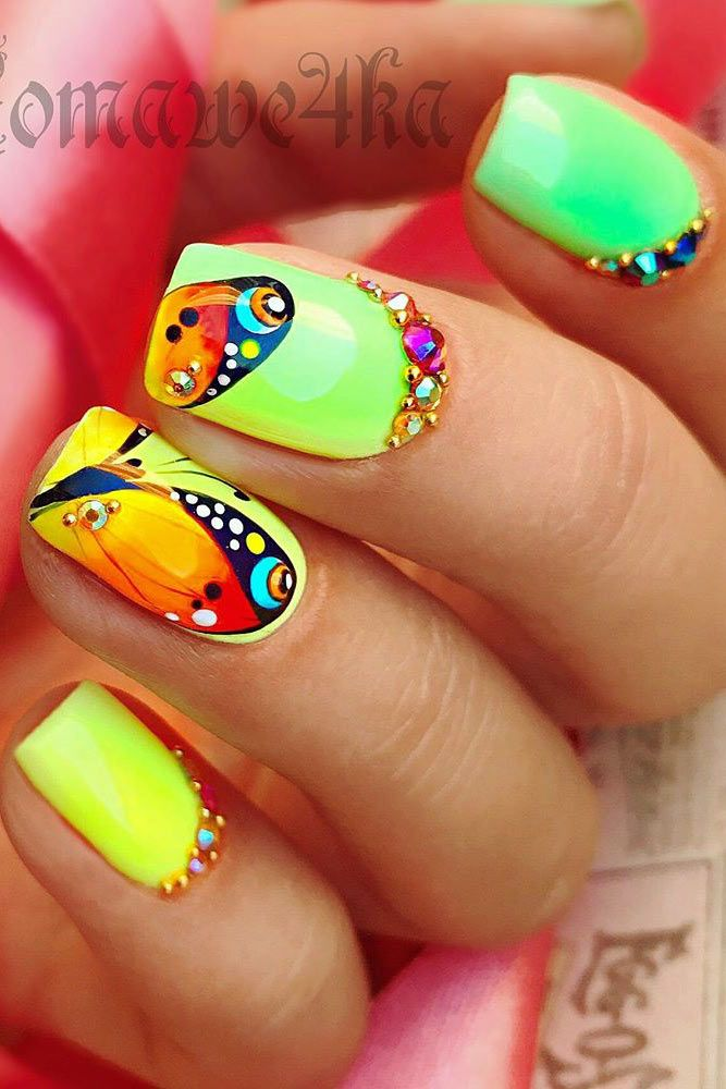 51 special summer nail designs for exceptional look bright nail 51 special summer nail designs for exceptional look prinsesfo Image collections