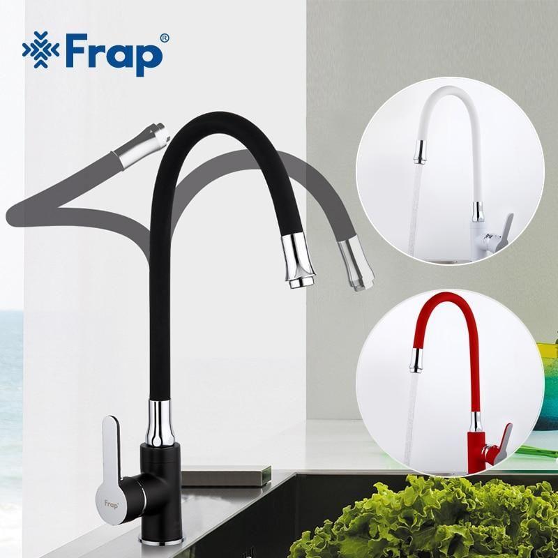 Frap Kitchen Faucet Modern Style Flexible Kitchen Sink Mixer Faucet Taps Single Handle Red White Blac Modern Kitchen Faucet Kitchen Sink Faucets Kitchen Faucet