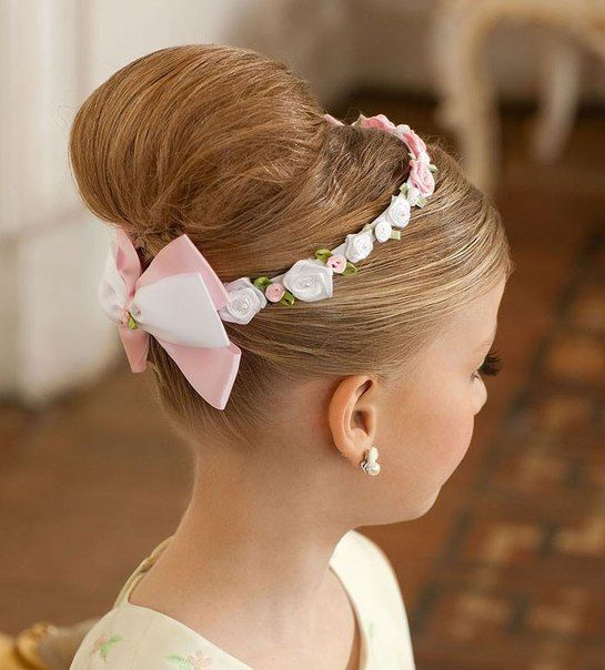 Little Girl Updo Hairstyle Hairstyles For Little Girls Pinterest
