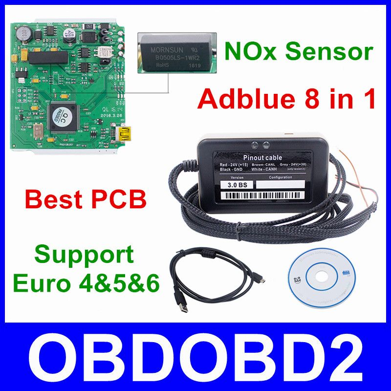 5pcs/Lot Adblue 8 In 1 Newest 3 0 Support Euro 6 Adblue