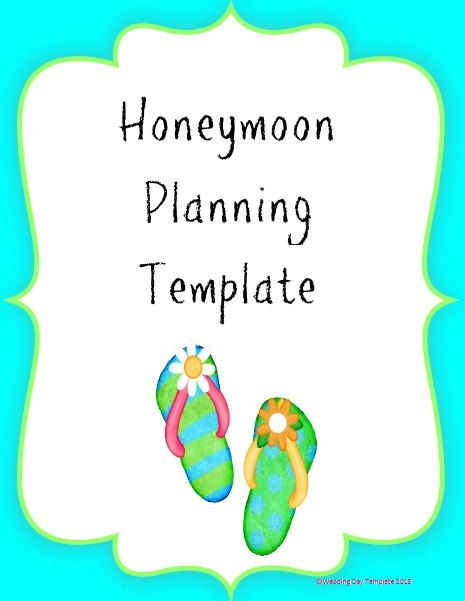 This easy to use printable planner helps you organize every detail - vacation planning template