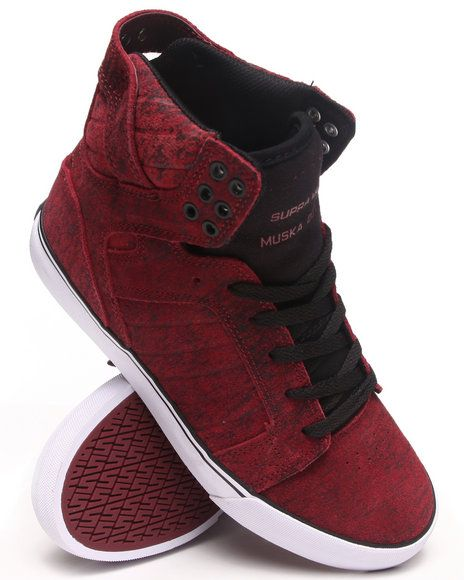 e591a972c46 Love this Supra Men Skytop Burgundy Suede Sneakers for $100.99 on DrJays.  Take a look and get 20% off your next order!