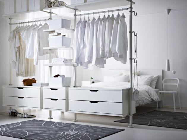 Offener schrank ikea  Schlafzimmerideen | Kleiderschränke, Schlafzimmer und Begehbarer ...