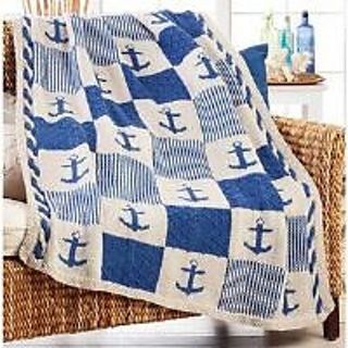 Ravelry: Nautical Patchwork Blanket pattern by Herrschners ...