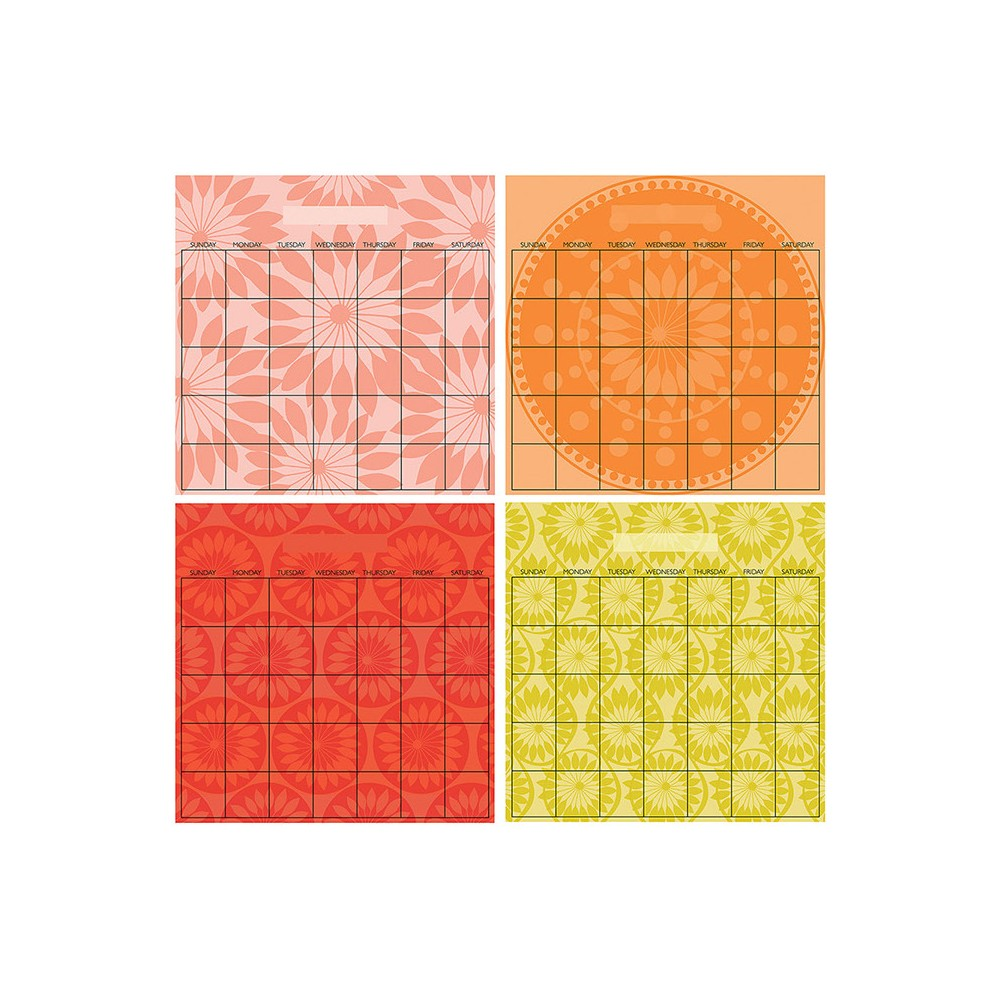 Wall Pops! Dry Erase Calendar Set Monthly 4pc