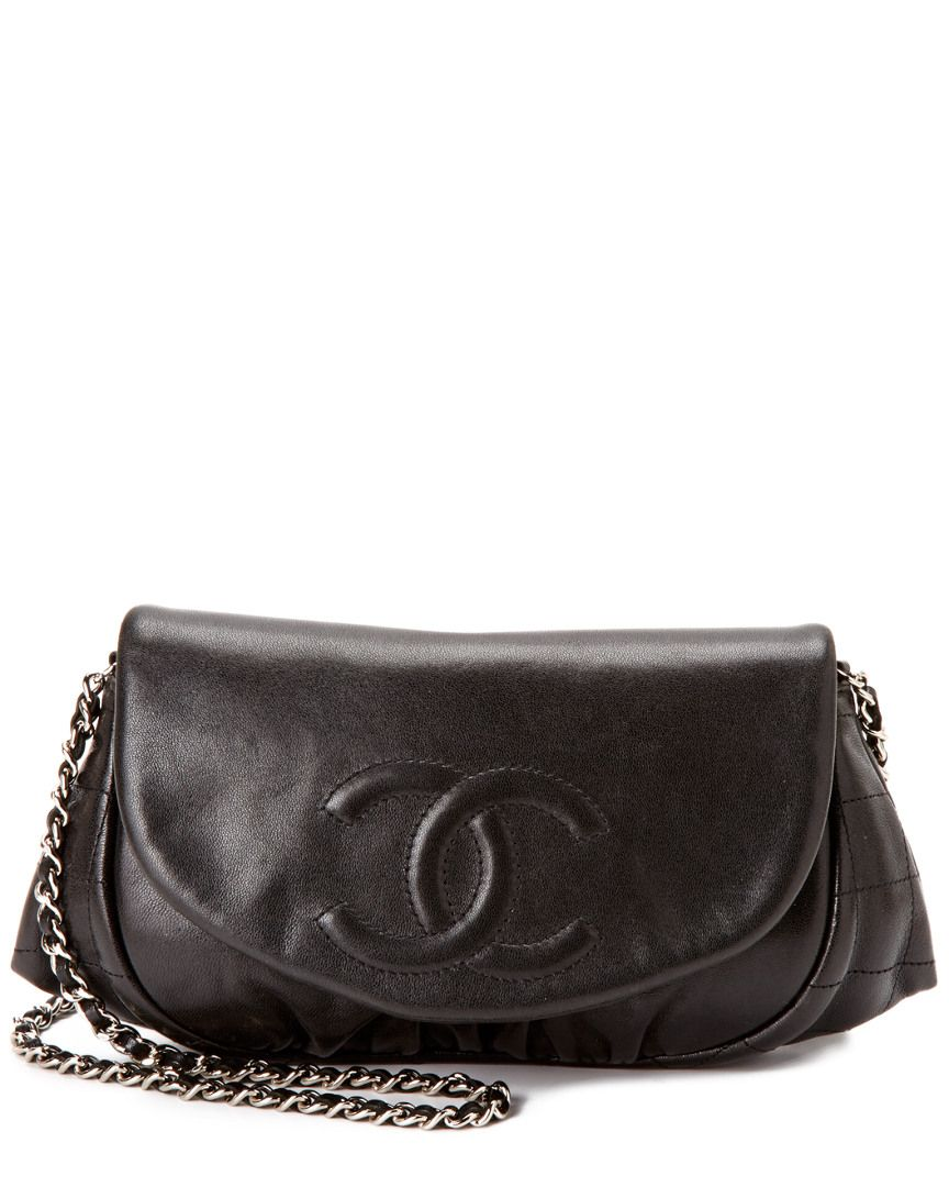 Bag Chanel Black Lambskin Half