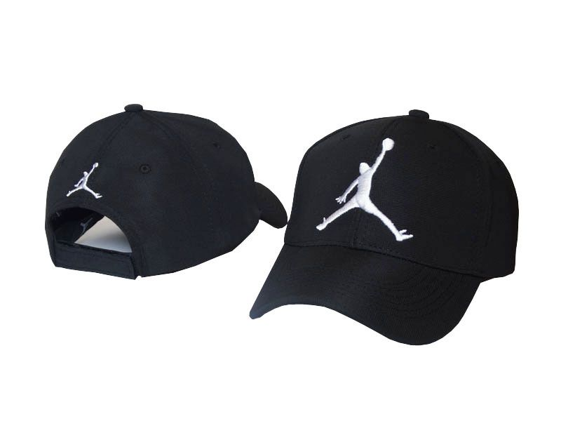 Mens   Womens Nike Air Jordan The Jumpman 3D Embroidery Logo 6 Panel  Fashion Strap Back Adjustable Polo Cap - Black   White fdd37ea033f