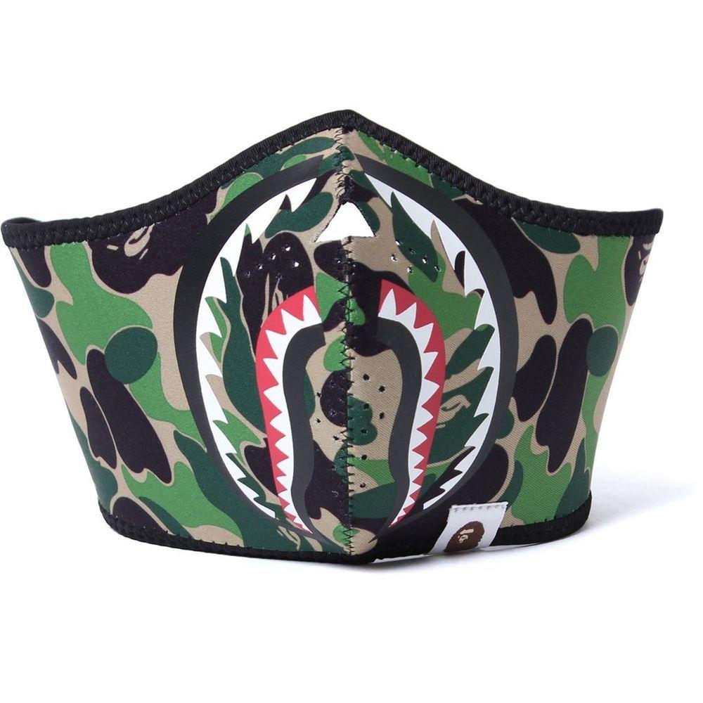 c8937743a76 A Bathing Ape BAPE Green ABC Camo SHARK Face Mask 100% Authentic Free  Shipping  ABathingApe