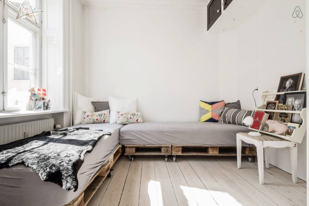 Pallet beds! - Get $25 credit with Airbnb if you sign up with this link http://www.airbnb.com/c/groberts22