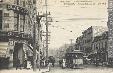Impression | Boulevard Saint-Laurent, Montréal, Qc, vers 1910 | MP-0000.816.1