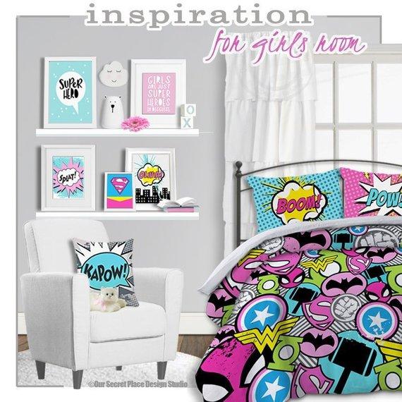 b0cb5442070d5 Girl Superhero Bedding for Girls Bedding Twin Girls Superhero ...
