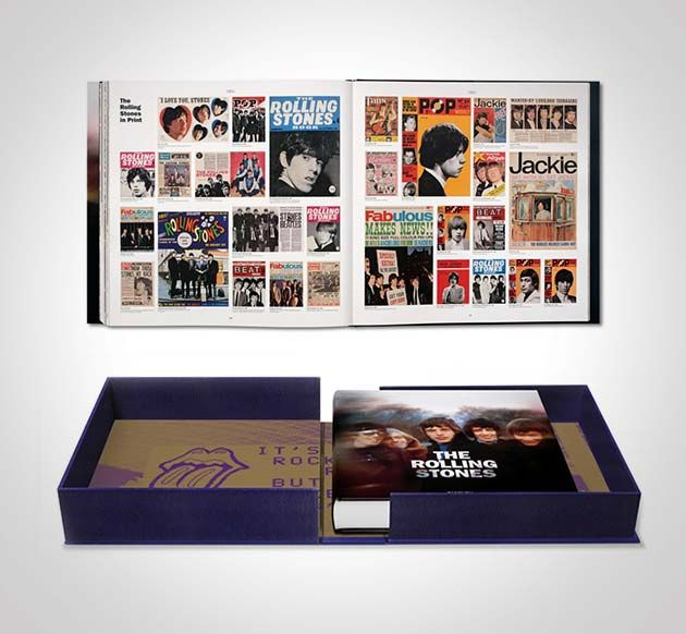 Rolling Stones SUMO by Taschen - This massive tome, edited by Reuel Golden, not only has 3 foldouts and silkscreen printed chapter openers, it's got over 500 pages that document the Rolling Stones' incredible career for the past half-century.