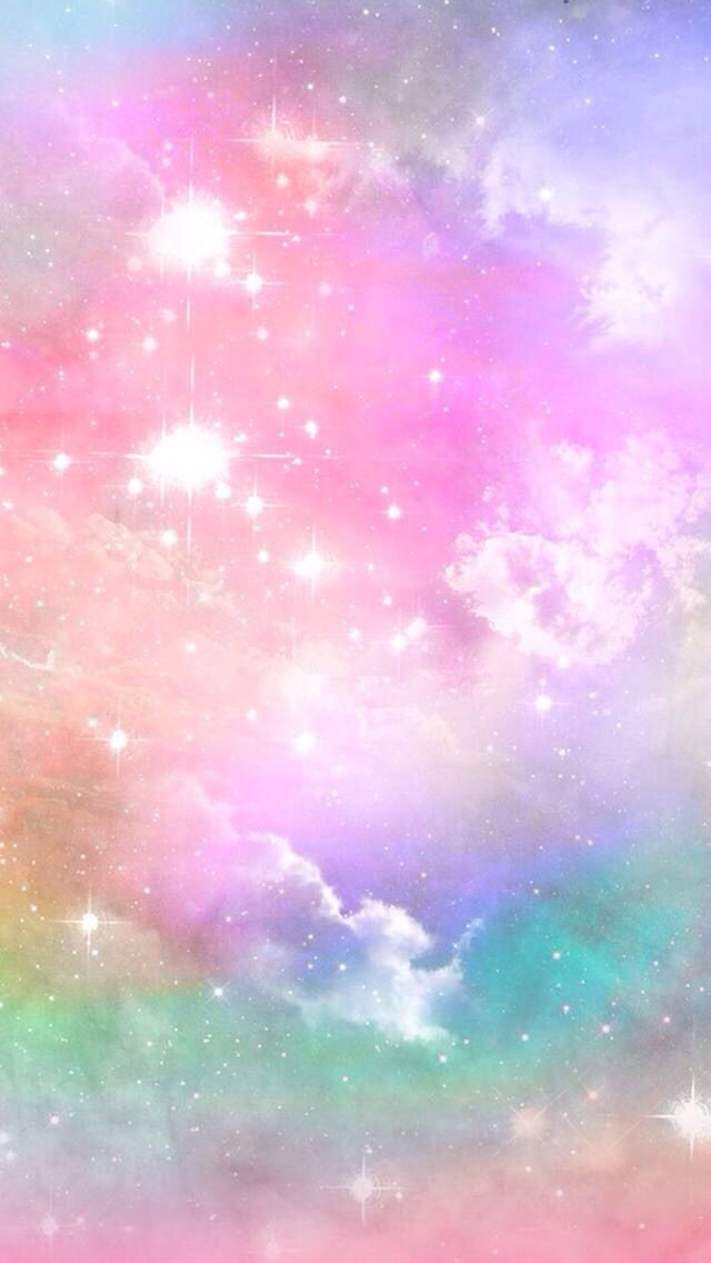Pin By Pakou Vang On Wallpapers For Girls Holographic Wallpapers Rainbow Wallpaper Pastel Galaxy