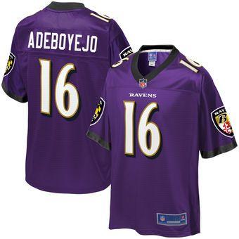 Quincy Adeboyejo Baltimore Ravens NFL Pro Line Team Color Player ...