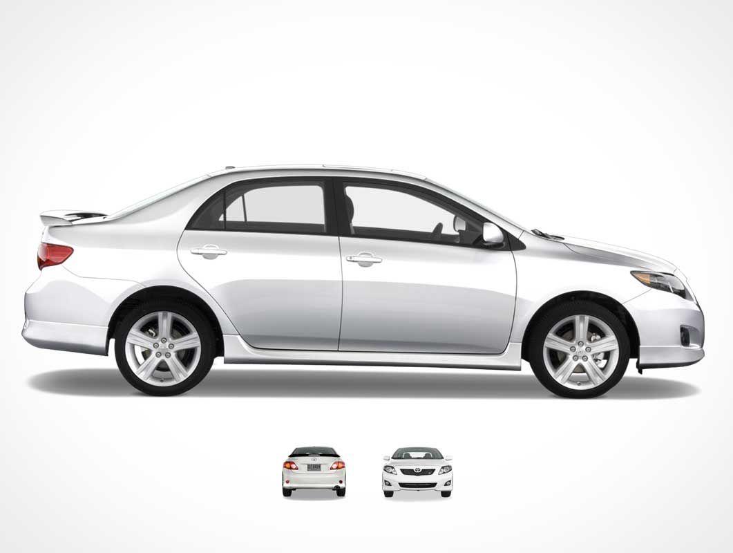 Free Toyota Corolla Sedan Car Mockup In Psd Com Imagens Cores