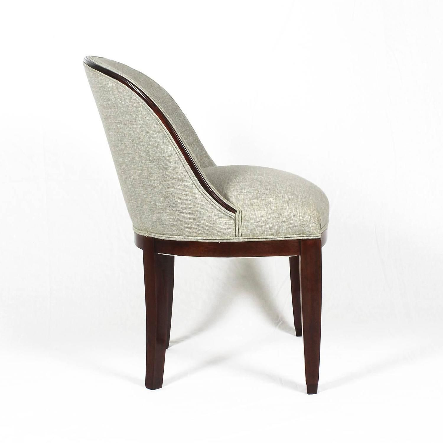 Set Of Four Chairs In The Style Of Otto Prutscher Upholstery # Muebles Peter Behrens