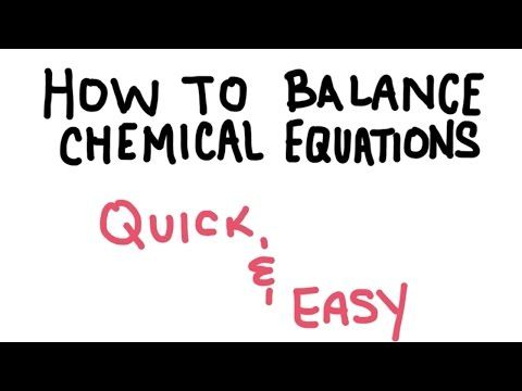 Student Exploration Chemistry Balancing Chemical Equations ...