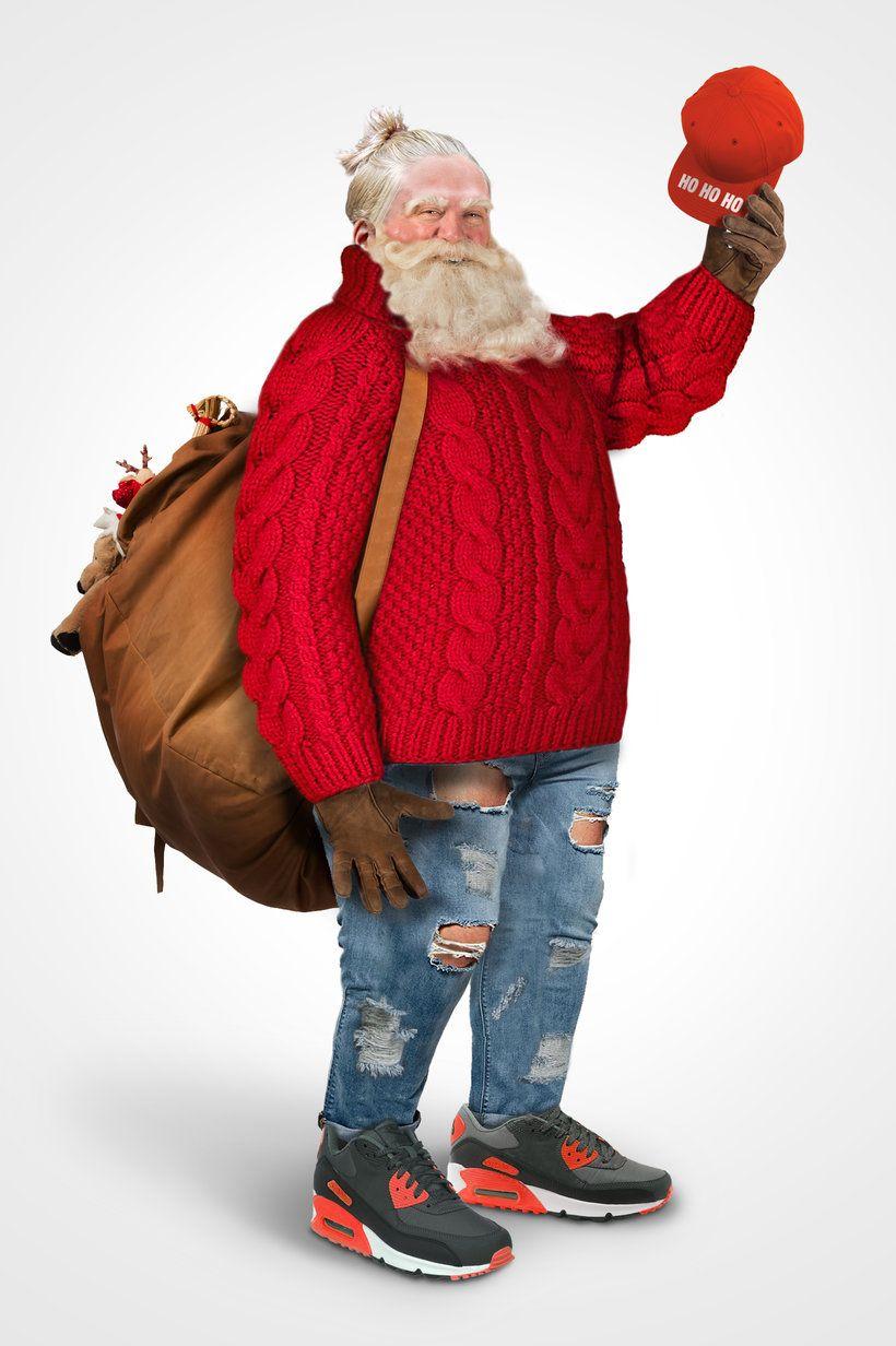 Dressing Santa According To Google Trends Hipster Santa British Costume Santa Outfit