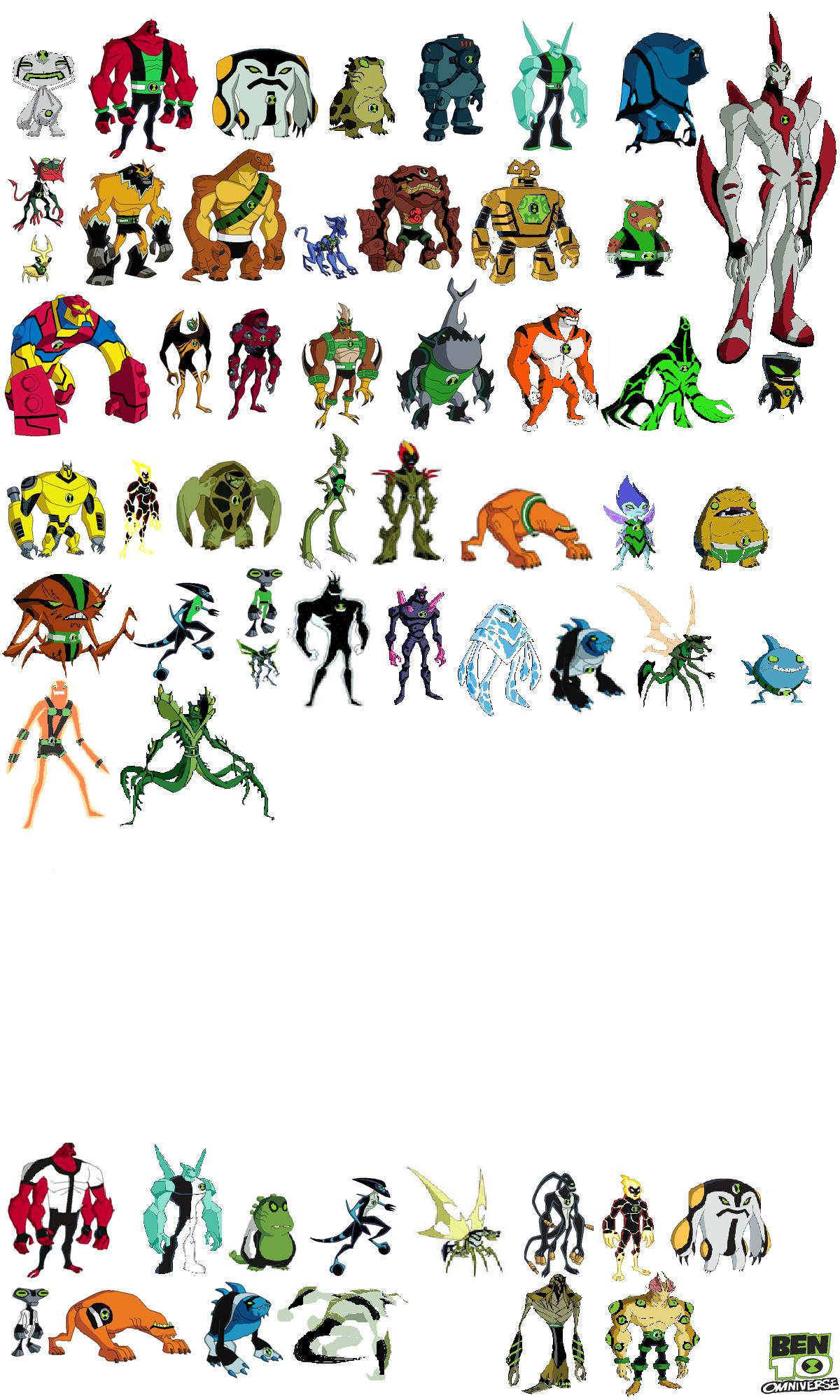 такие мощное все герои из омнитрикса список с фото выставите