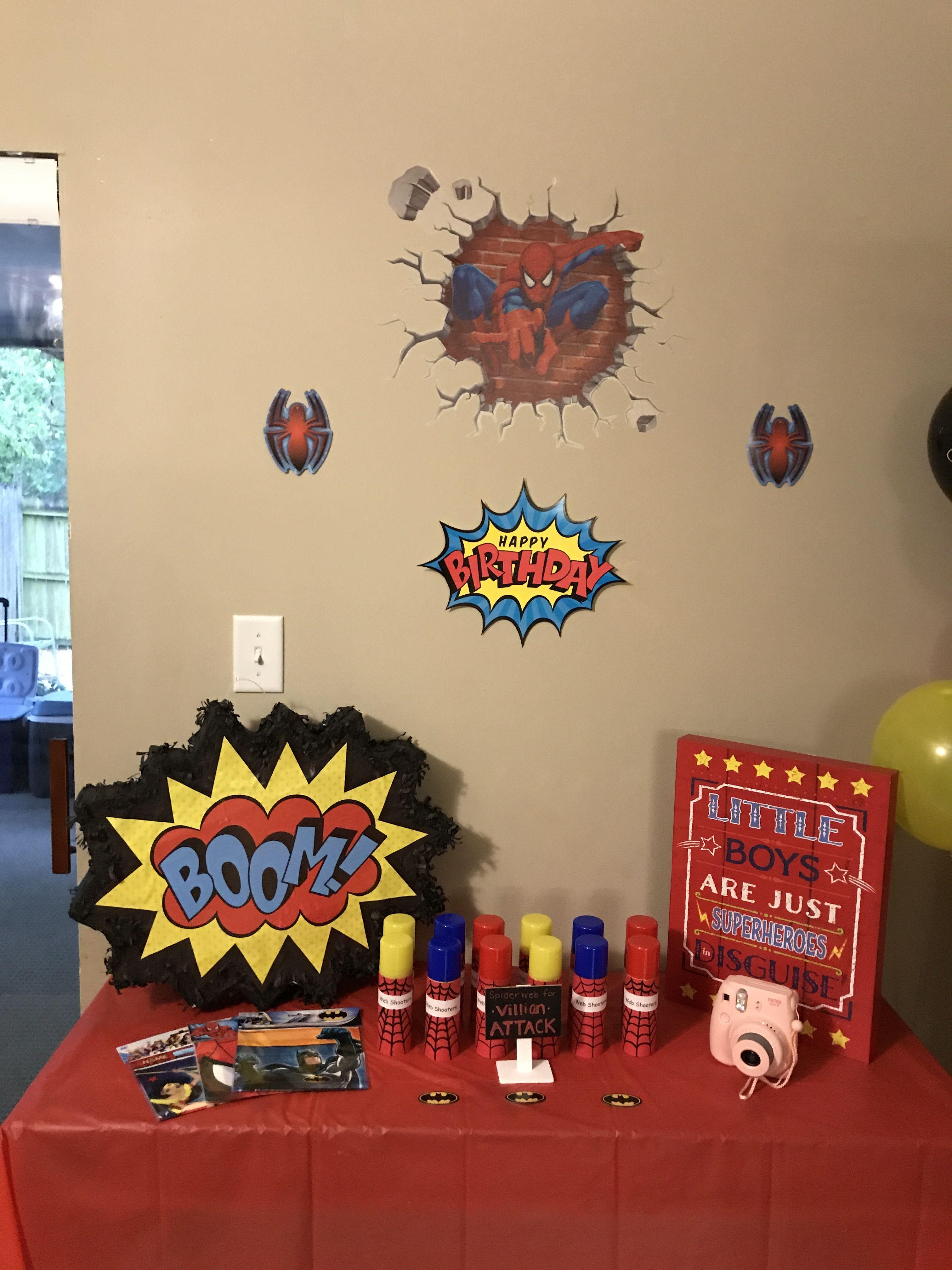 Wall decorations for a batman Spider-Man superman superhero ...