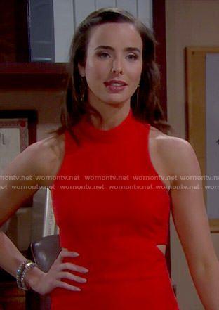ivy forrester Shalene' Dress in Tiger Orange by Elizabeth and James
