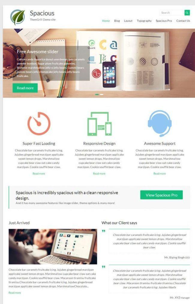 spacious free WordPress theme   Desarrollo Web   Pinterest ...