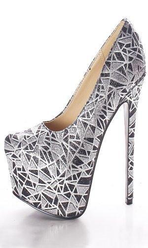 Zapatos plateado Tacón de aguja para mujer UYobQQUV8
