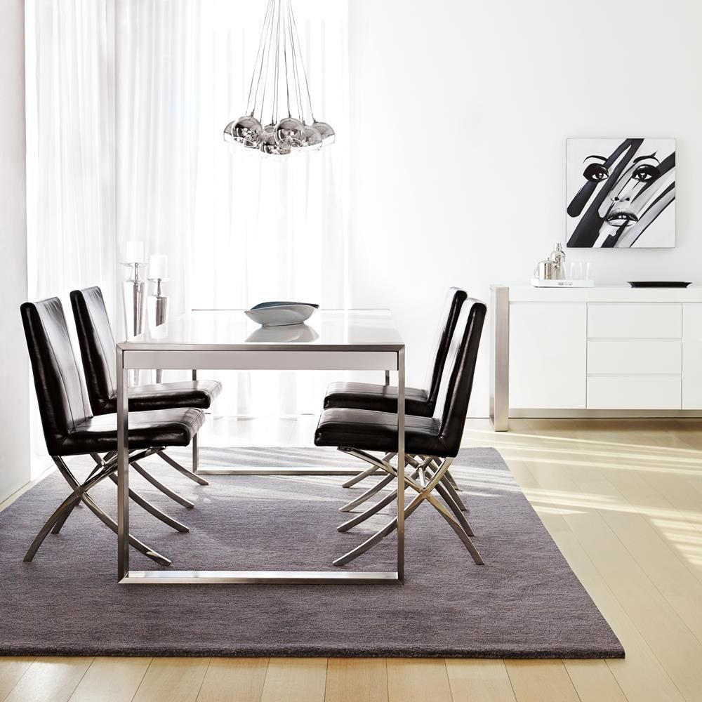 Atelier - Metropolitan - Lacquer dining table with stainless steel ...