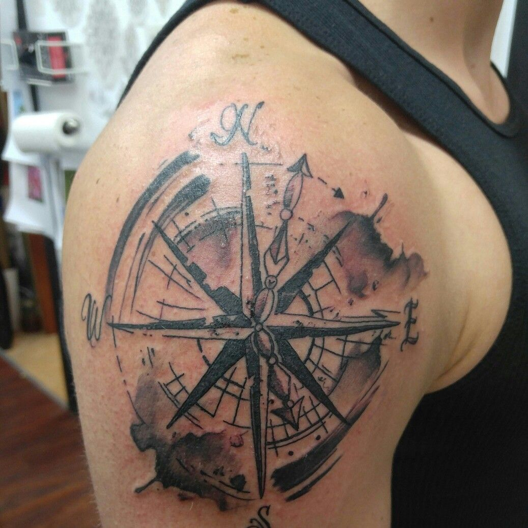 Compass rose Tattoo!! | tattoo ideas | Pinterest | Compass rose ...