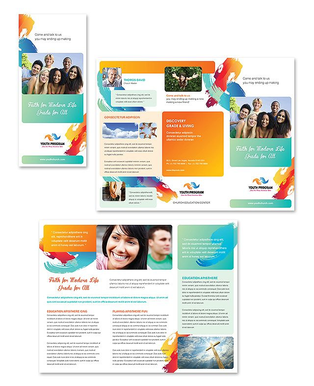 Church Youth Ministry Tri Fold Brochure Template HttpWww