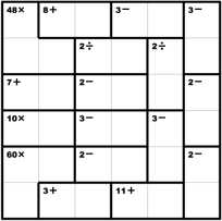 photo regarding Kenken Printable titled 6x6 KenKen, all 4 functions. KenKen Puzzles Maths
