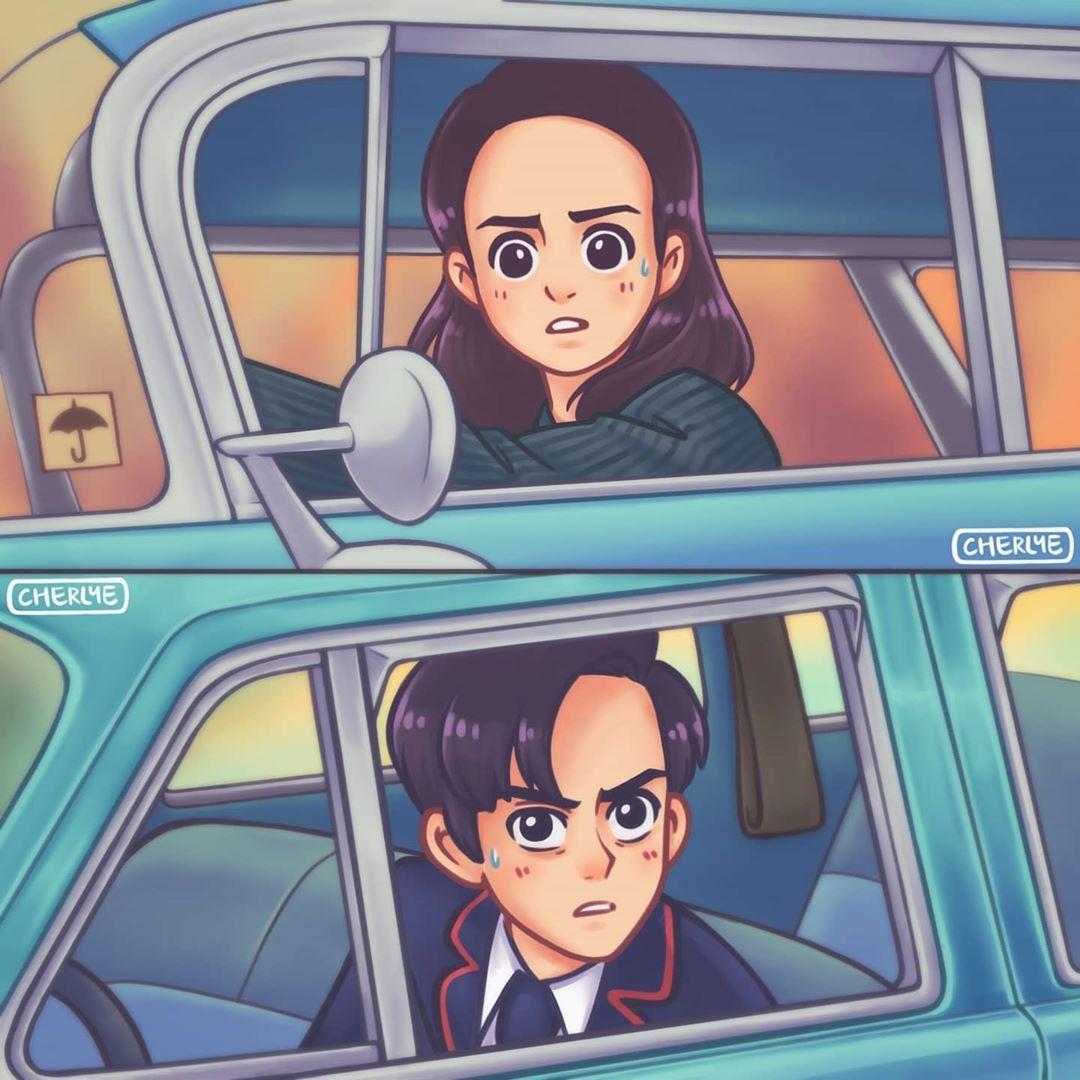 The Umbrella Academy Meme Redraw By Cherlye Series Buenas De Netflix Frases De Netflix Cuaderno De Dibujos De Bocetos