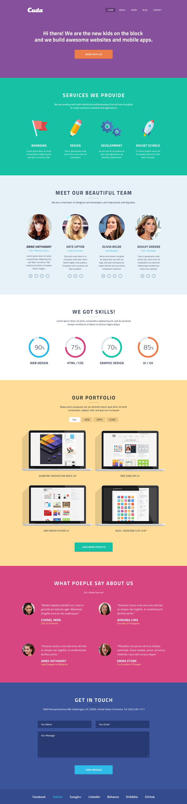 One Page Web Template. 35 best free and premium one page html5 ...