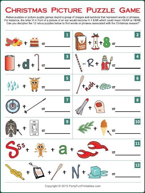 Christmas Song Picture Game | christmas | Christmas trivia