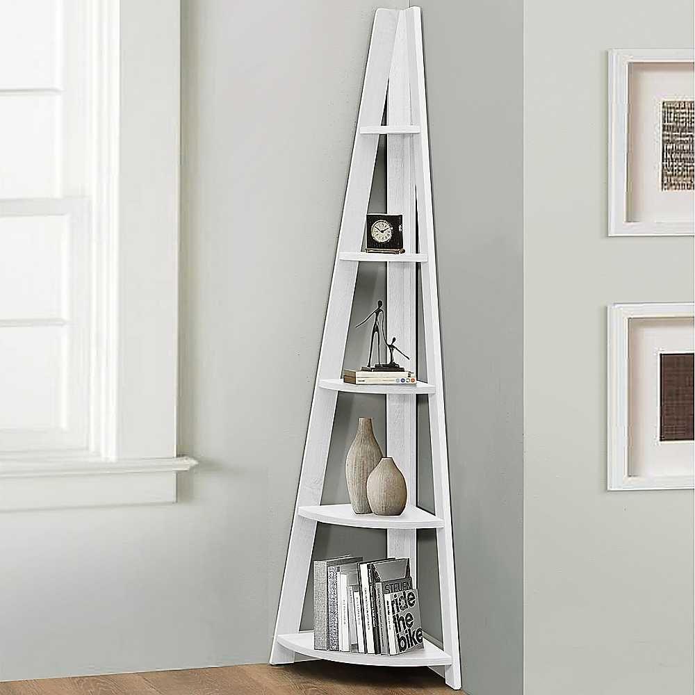 Birlea nordic corner ladder bookcase shelf corner ladder bookcase