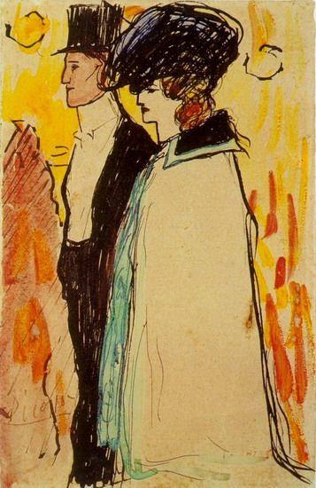 "Pablo Picasso - ""Couple de `Rastaquoueres`"". 1901"