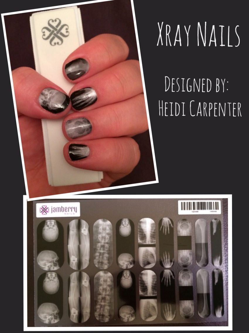 I created these Jamberry xray nails in the nail art studio